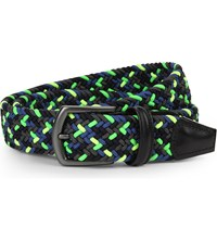Andersons Multi Elasticated Woven Belt Green Yellow Multi