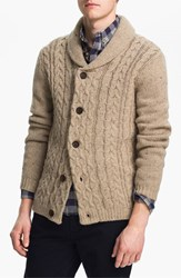 Men's Topman Cable Knit Shawl Collar Cardigan