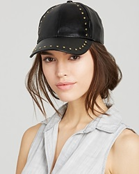 August Accessories Studded Baseball Cap Black