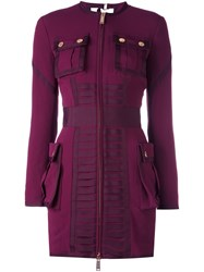 Dsquared2 Long Sleeve Pocket Dress Pink And Purple