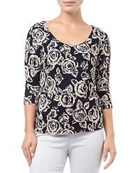 Phase Eight Rose Lace Top Navy Ivory
