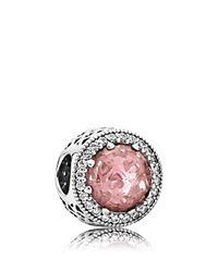 Pandora Design Pandora Charm Sterling Silver Crystal And Cubic Zirconia Radiant Hearts Moments Collection