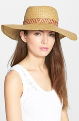 Lucky Brand Square Weave Straw Hat Natural