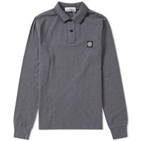Stone Island Long Sleeve Slim Fit Polo Grey