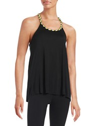 Bench Braided Racerback Tank Top Black