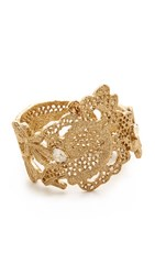 Oscar De La Renta Lace Bracelet Cry Gold Shadow