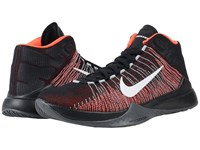 Nike Zoom Ascention Black Bright Crimson Black White Men's Basketball Shoes