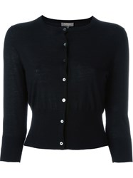 N.Peal Superfine Cropped Cardigan Black