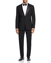 Armani Collezioni Classic Fit Peak Lapel Tuxedo Black