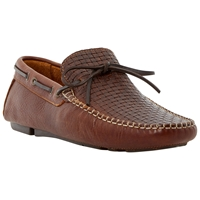 Bertie Woven Front Loafers Tan