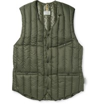 Rocky Mountain Featherbed Six Month Quilted Shell Down Gilet Green