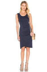 Velvet By Graham And Spencer Shony Modal Knit Bodycon Dress Navy
