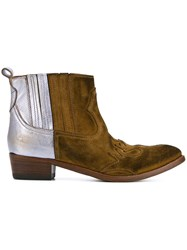 Golden Goose Deluxe Brand Colour Block Ankle Boots Brown