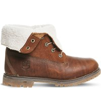 Timberland Teddy Fleece Leather Boots Tobacco Forty