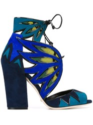 Sergio Rossi Chunky Heel Sandals Blue
