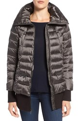 French Connection Women's Pillow Collar Bomber Jacket Gunmetal