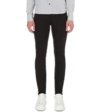 Alexander Mcqueen Leather Detail Slim Fit Skinny Jeans Black