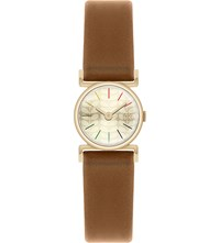 Orla Kiely Ok2046 Cecilia Leather And Stainless Steel Watch Champagne