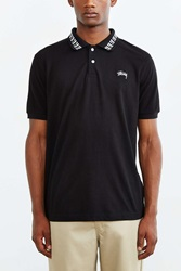 Stussy Cube Short Sleeve Polo Shirt Black