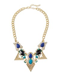 Jules Smith Designs Jules Smith Triangle Crystal Statement Necklace Blue