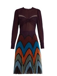 Mary Katrantzou Beta Prunga Print Dress Purple Multi