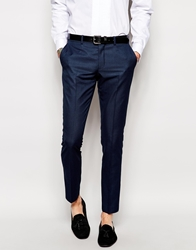 Selected Tuxedo Trousers In Skinny Fit Navy