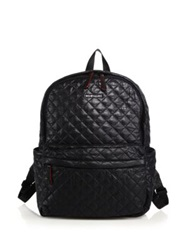 M Z Wallace Metro Quilted Nylon Backpack Black