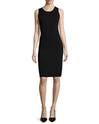 Giorgio Armani Sleeveless Ottoman Knit Dress Black