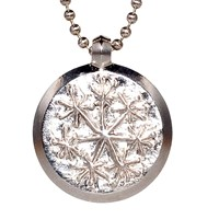Sks Jewelry Snowflake Pendant Necklace Silver