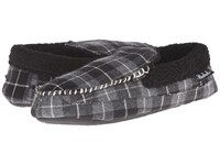 Woolrich Camper Charcoal Plaid Men's Slippers Navy