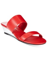 Callisto Athena Alexander By Spendit Wedge Sandals Women's Shoes Red