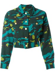 Jean Paul Gaultier Vintage Fitted Camouflage Jacket Green