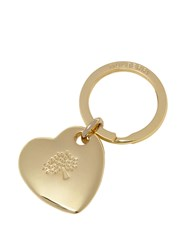 Mulberry Heart Keyring Gold