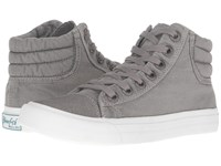 Blowfish Madras Grey Color Washed Canvas Women's Lace Up Casual Shoes Gray