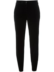 Etro Tapered Cropped Trousers Black