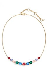 Women's Kent And King Jeweled Frontal Necklace Gold