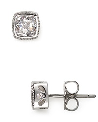 Nadri Cushion Cut Stud Earrings