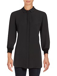 Lafayette 148 New York Amina Button Front Shirt Ash