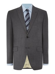 Corsivo Zanobi Check Suit Jacket Grey