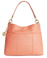 Tommy Hilfiger Th Signature Leather Small Hobo Coral