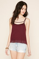 Forever 21 Crochet Caged Front Cami