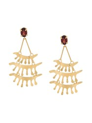 Wouters And Hendrix 'In Mood For Love' Garnet Chandelier Earrings Metallic