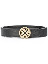 Emporio Armani Logo Buckle Belt Black