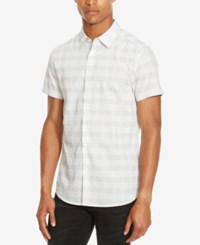 Kenneth Cole Reaction Men's Check Shirt White Combo