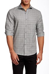 Kent And Curwen Plaid Tailored Fit Shirt Black