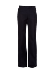 Nina Ricci Wool And Cotton Blend Wide Leg Trousers