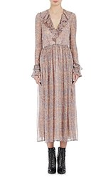 Philosophy Di Lorenzo Serafini Women's Fantasy Floral Peasant Dress Light Blue Light Pink No Color