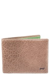 Men's Will Leather Goods 'Marvel' Wallet Metallic Taupe Green