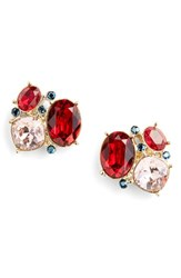 Women's St. John Collection Swarovski Crystal Cluster Earrings