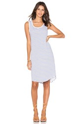 Velvet By Graham And Spencer Evonne Stripe Cotton Scoop Neck Tank Dress White